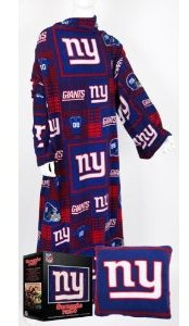 funny snuggies, funny football team snuggies, funny snuggie, pro football team snuggies, blankets with arm, new york Giants snuggie,