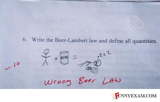 funny beer law test answer