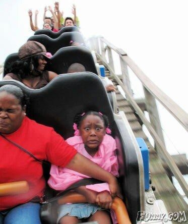 funny roller coaster fear picture