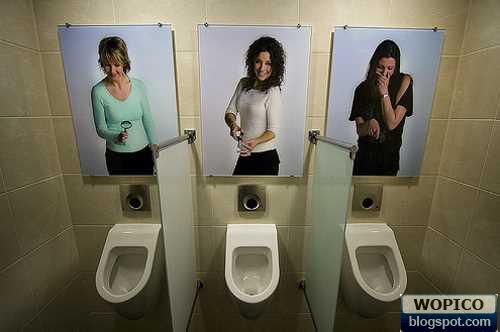 funny mens room pictures urinals photo