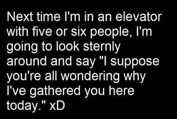funny elevator quote