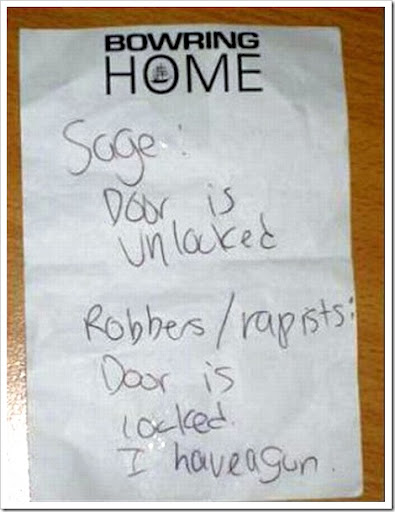 funny door unlocked note