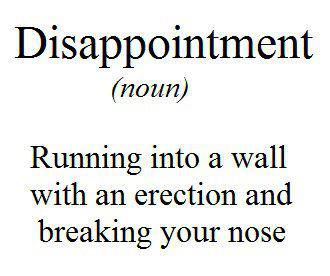 disappointment definition