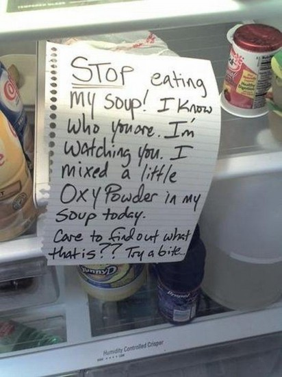 funny stop eating my soup note