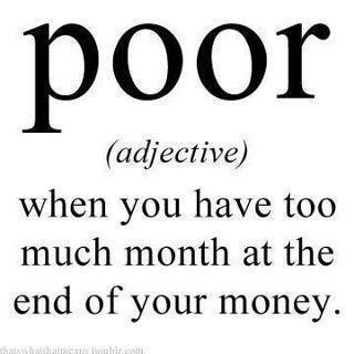 funny definition of poor