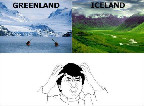 funny iceland greenland jackie chan photo