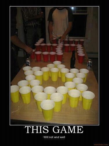 Funny beer pong this game will not end well picture