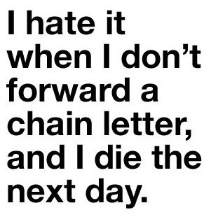 funny forward chain letter quote
