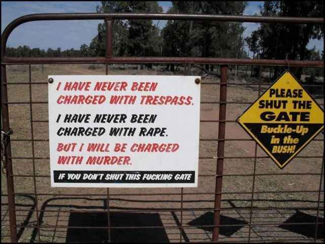 funny shut the gate sign & funny door signs Archives - Page 2 of 3 - Everything Funny
