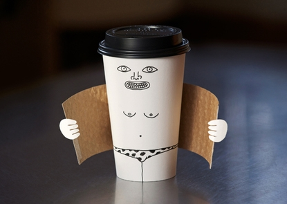 funny flashing coffee cup picture