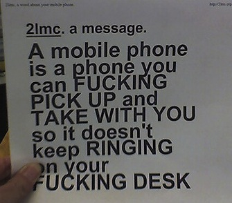funny mobile phone note