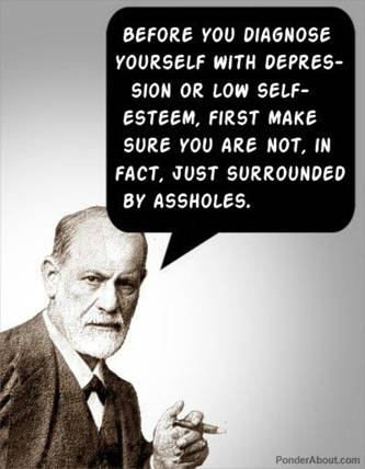 funny quote before diagnosing yourself with depression
