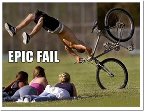 funny bicycle fail pic