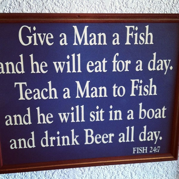 funny give a man a fish quote
