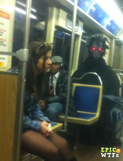 Just another ordinary day on the subway...WTF?