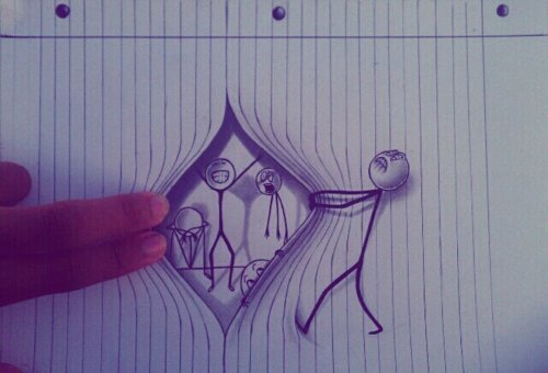 funny drawing stick figure opening page
