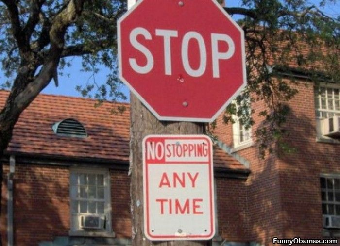 funny stop sign fail pic