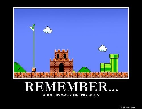 remember when this was your only goal mario bros funny cartoon