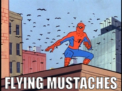 funny flying mustaches spider man cartoon funny spiderman comic