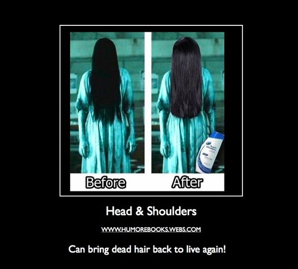 funny before after hair horror movie girl caption photo