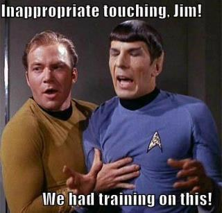 funny star trek inappropriate touching caption picture