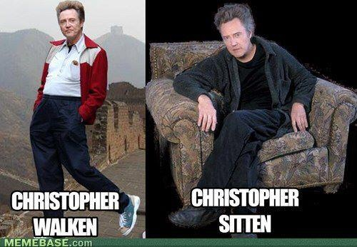 funny christopher walken christoper sitten sittin caption photo