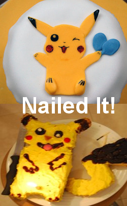 pikachu cake - funny nailed it baking fail