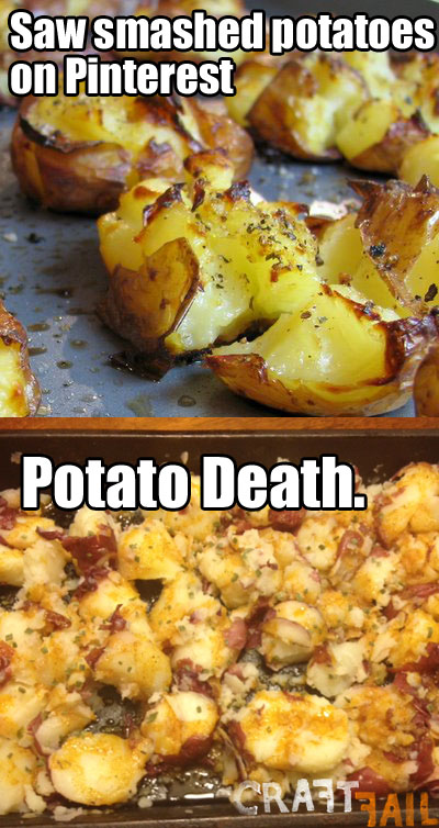 funny baked potato nailed it picture