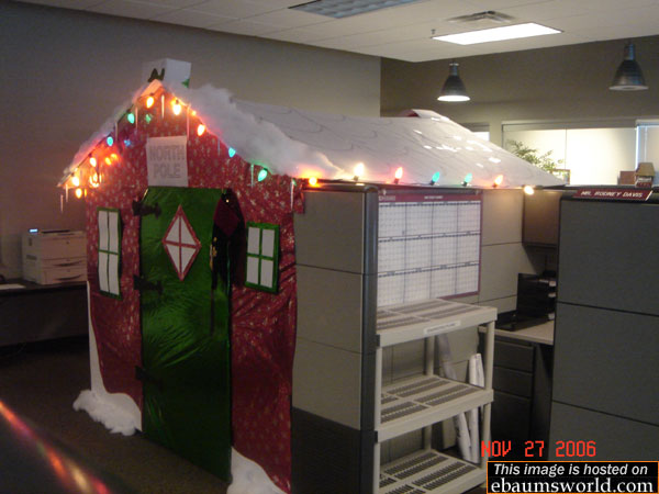 funny cabin office cubicle prank
