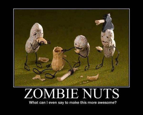 funny zombie nuts caption picture
