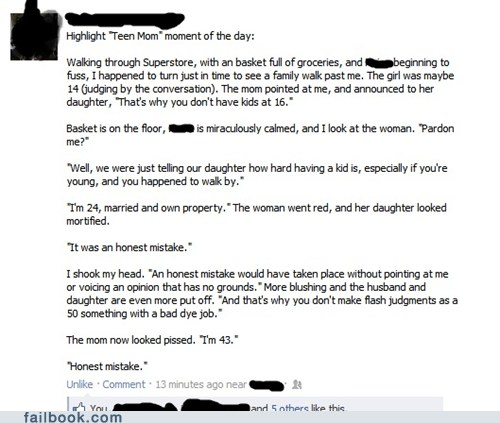 funny honest mistake facebook status