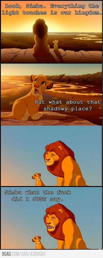 funny simba what did i just say cartoon