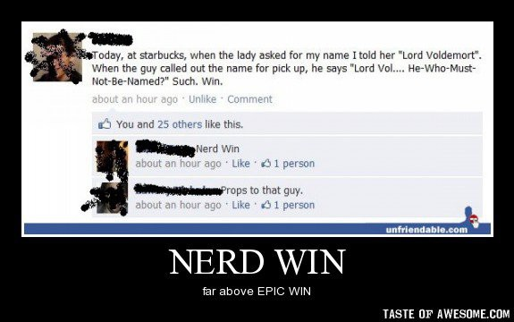 funny nerd win he who must not be named