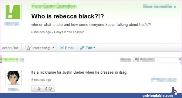 funny who is rebecca black justin beiber in drag