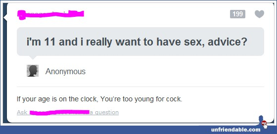 funny if your age is not on the clock status you're too young
