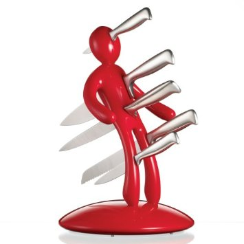 funny the ex kitchen knife holder red man with knives stuck in him funny gifts funny gadgets