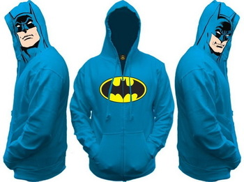 awesome batman hoodie sweatshirt with batman faces on the sides