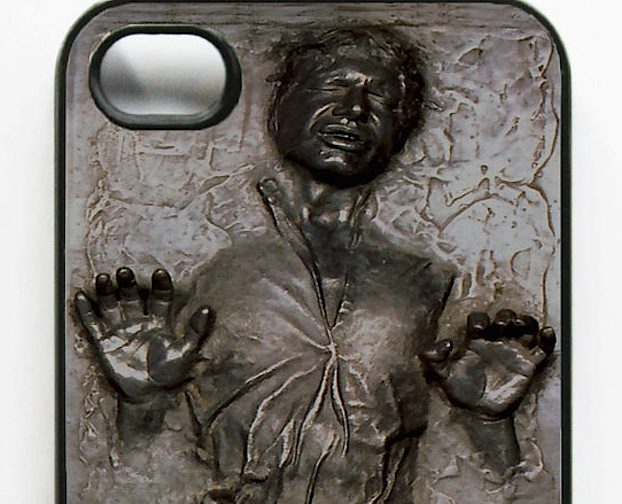 awesome funny frozen han solo iphone case for sale