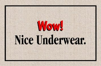 funny wow nice underwear doormat funny gifts funny home