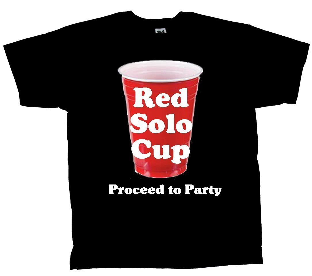 funny red solo cup proceed to party tshirt t-shirt