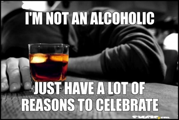 funny caption not an alcoholic just have lot of reasons to celebrate photo