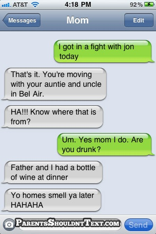 Funny moving with your uncle and aunty in bel air mom are you drunk