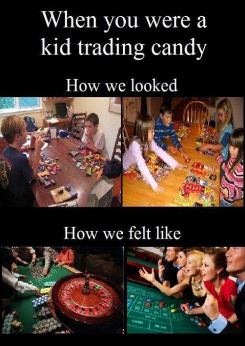 funny trading halloween candy how we looked how we felt caption picture