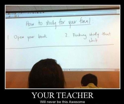 funny teacher giving rules for test open your book study that @#$%