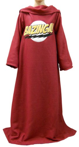 funny bazinga big bang theory snuggie blanket with sleeves