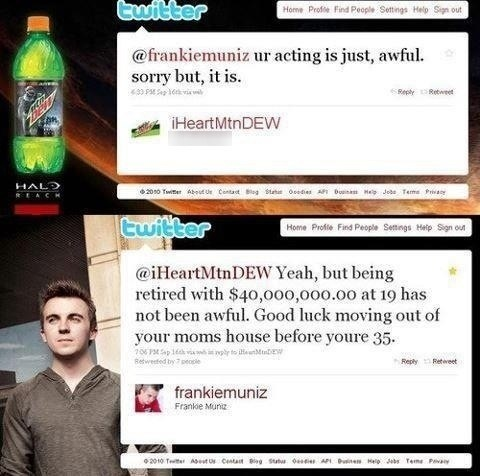 funny frankie muniz status retiring with 40,000,000 is not awful good luck moving out of moms house