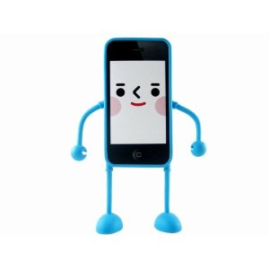 funny iphone covers stand up rubber figure iphone cover skin protector case