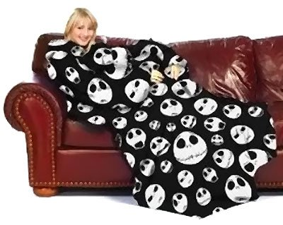 funny snuggies, funny snuggie, blankets with sleeves, Nightmare Before Christmas Snuggie Blanket With Sleeves, robe,