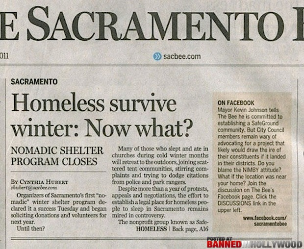 funny headline homeless survive winter now what?
