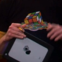 Sheldon Shirts Melting Rubik's cube T shirt from the show Rubics Rubix